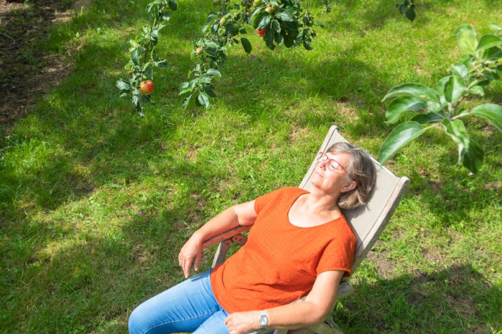 genieten in de zon is leven in het nu